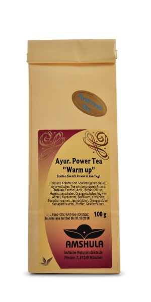 Ayurvedischer Power Tea Warm up - 100 g