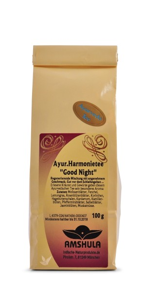 Ayurvedischer Harmonietee Good Night - 100 g